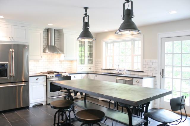 Captivating French Bistro Kitchen Industrial Kitchen