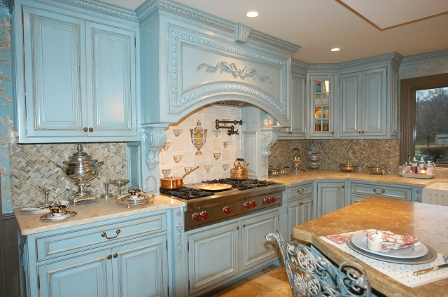 French blue kitchen traditional kitchen new york by artisan