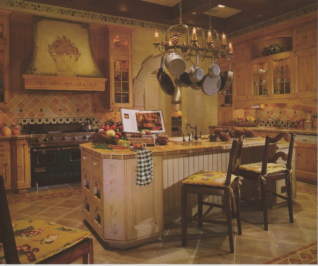 French chateau beverly park traditional kitchen los for French chateau kitchen designs