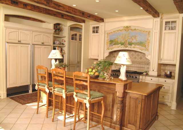 French Chateau mediterranean-kitchen