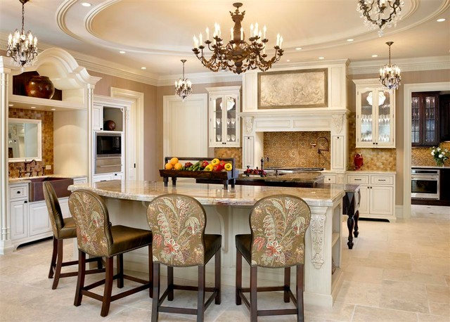 French chateau traditional kitchen chicago by for French chateau kitchen designs