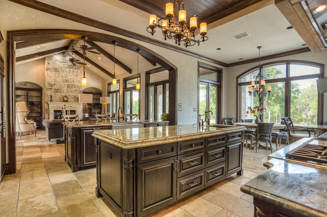 French chateau near salado texas traditional kitchen for Texas kitchen designs