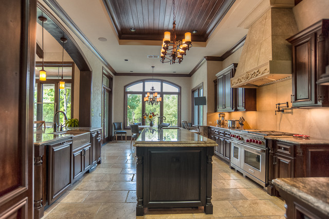 French Chateau Near Salado Texas Traditional Kitchen