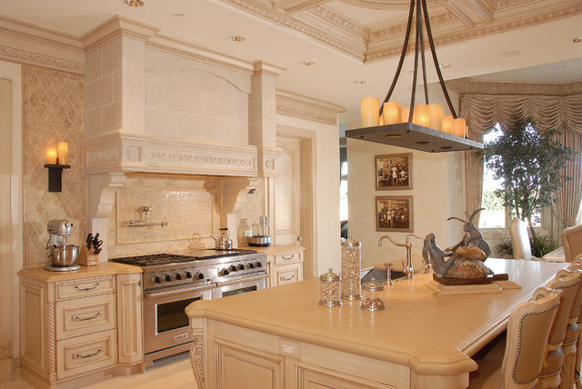 French Chateau Traditional Kitchen Los Angeles By