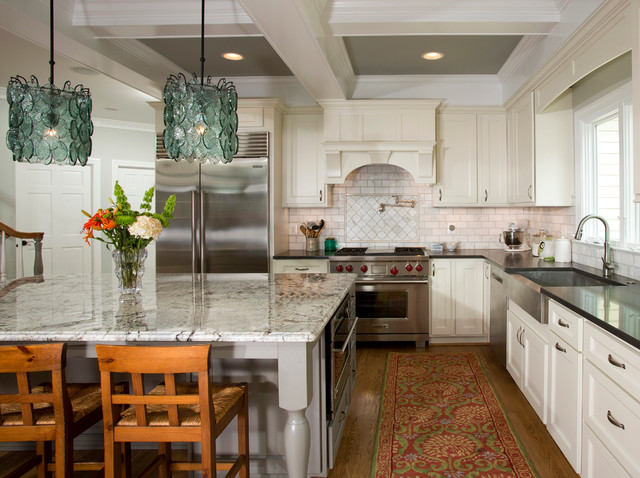 terrific french colonial kitchen   French Colonial Kitchen - Transitional - dc metro - by Sun ...