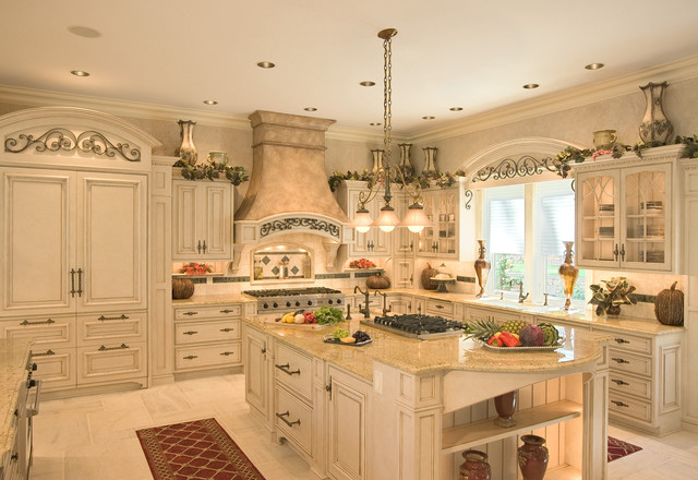 French Colonial Style Kitchen - mediterranean - kitchen