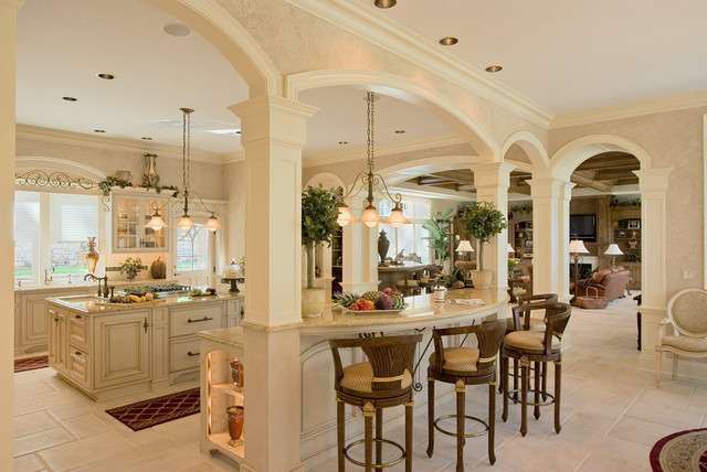 French Colonial Style Kitchen mediterranean-kitchen