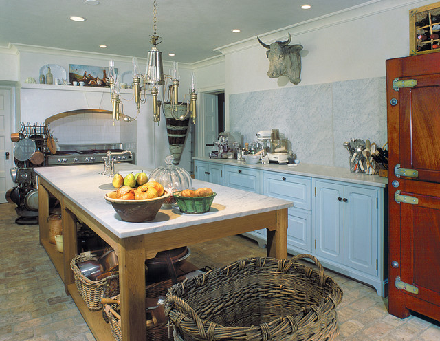French Country Farmhouse Kitchen Philadelphia by Bluebell