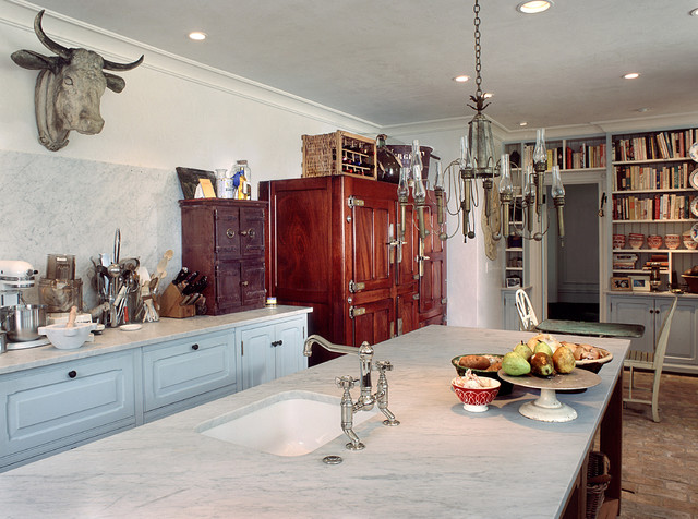 French Country Rustic Kitchen Philadelphia By Bluebell - French rustic kitchen