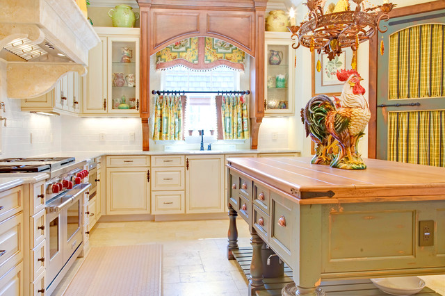 French country - French country kitchen window treatments ...