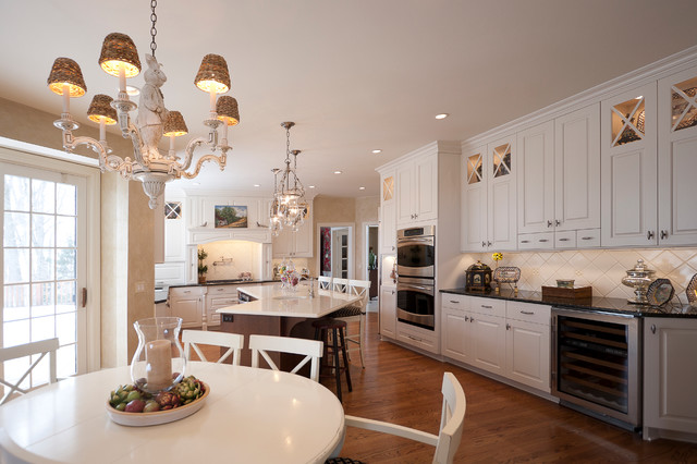 French country cottage meets uptown expectations for French country cottage kitchen designs