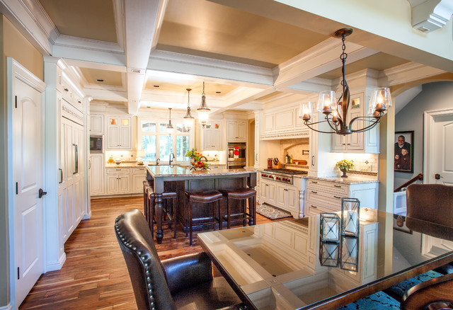 French Country European Style Home traditional-kitchen