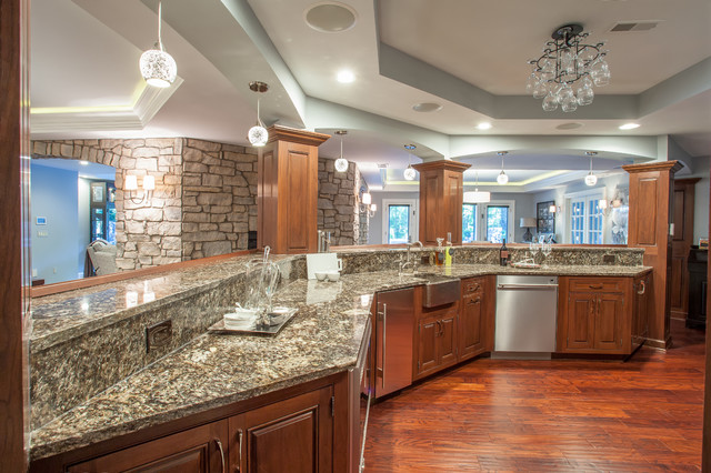 French Country European Style Home Traditional Kitchen Detroit By M J Whelan Construction