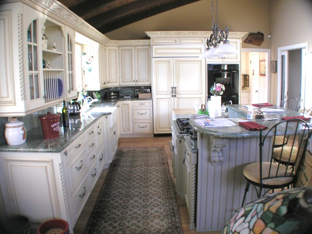 French Country In Santa Barbara traditional-kitchen