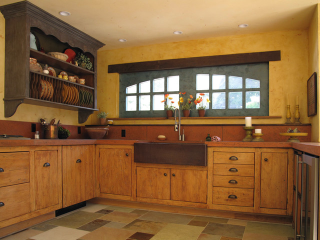 French Country Kitchen Rustic Kitchen San Francisco