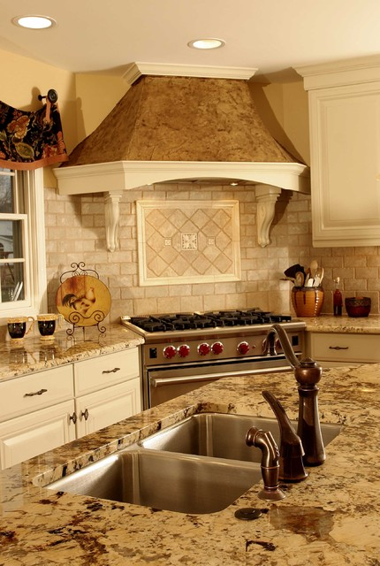 French Country Kitchen Hood - Traditional - Kitchen - chicago - by Normandy Remodeling