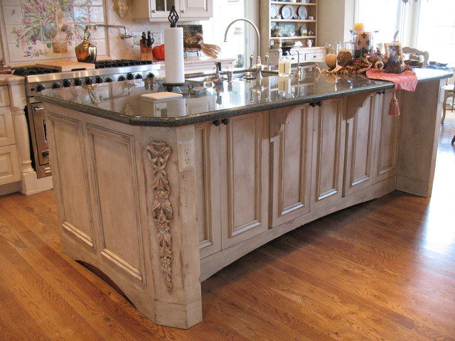 French Country Kitchen Island Traditional Kitchen Denver By
