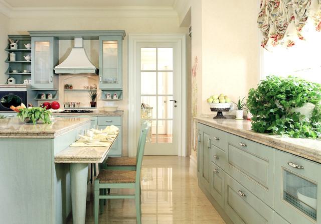 French Country Kitchen Mediterranean Kitchen