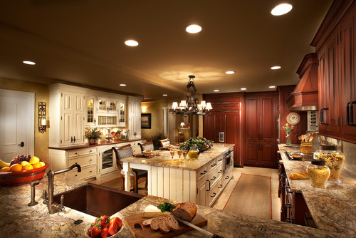 Modern french country design featuring woodwork