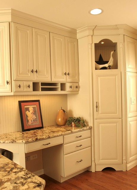 French Country Desk traditional kitchen
