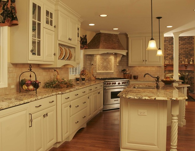 French country kitchen traditional kitchen chicago for Country kitchen colors ideas