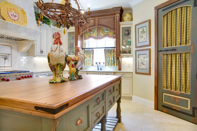 French Country Kitchen mediterranean kitchen