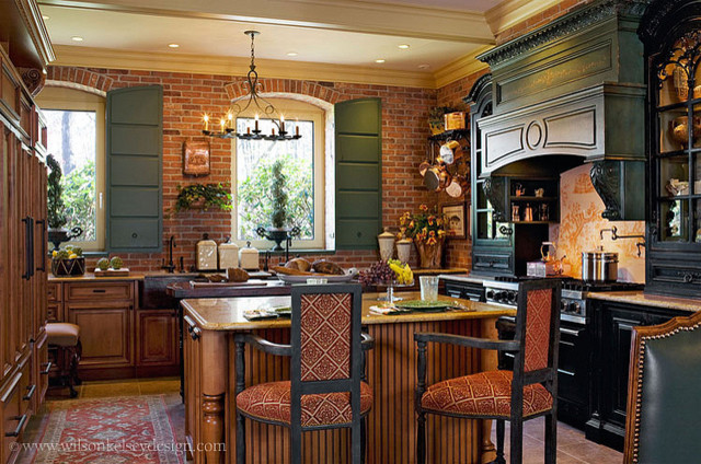 french country kitchen - eclectic - kitchen - boston -wilson