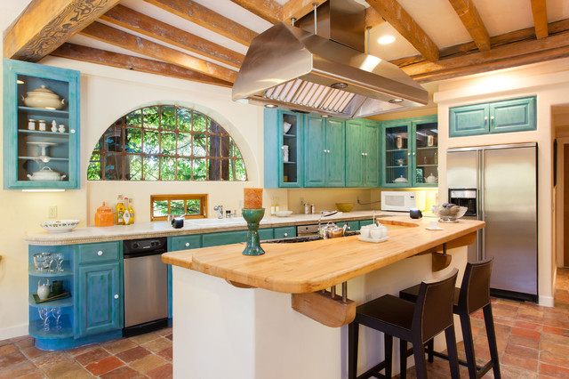 French Country / Mediterranean Style Home In Oakland, CA Mediterranean  Kitchen