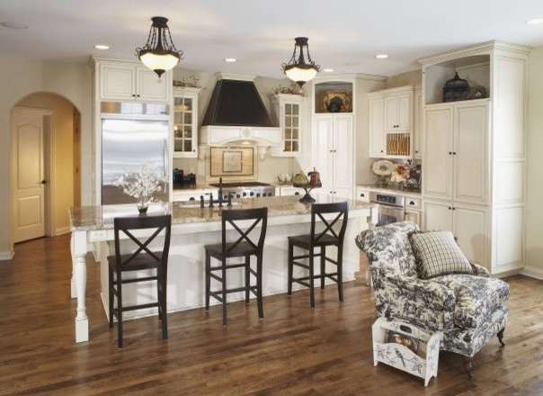 French Country Model Home traditional-kitchen