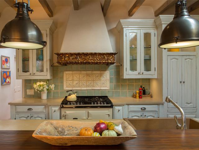French Country Santa Fe Nm Mediterranean Kitchen