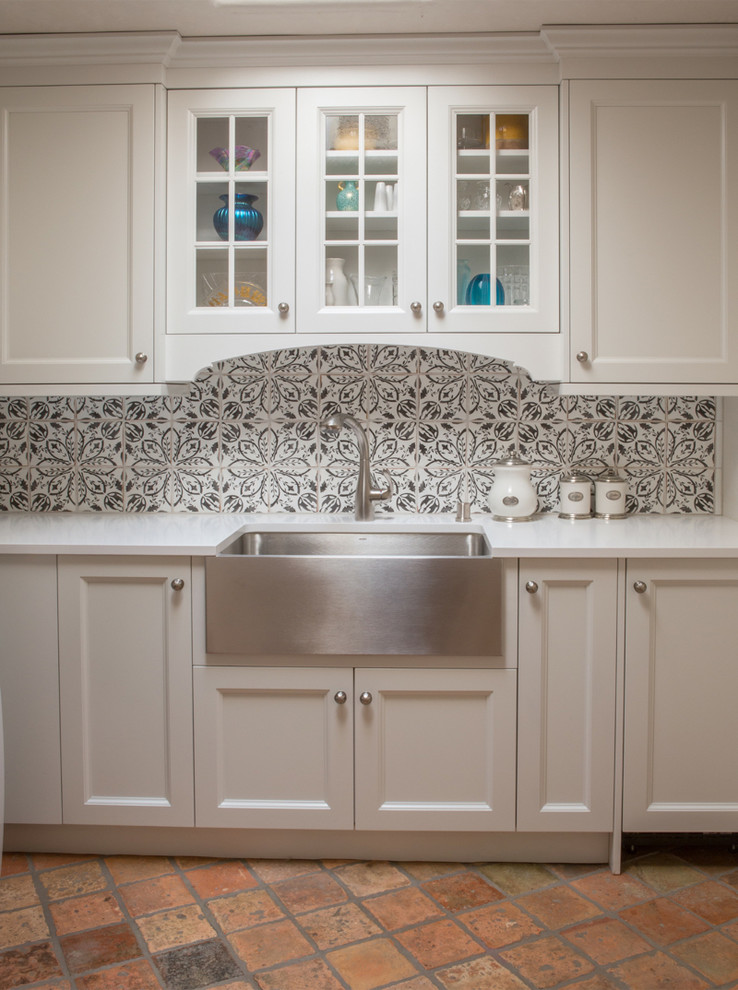 French Country Santa Fe Nm Farmhouse Kitchen Albuquerque By Statements In Tile Lighting Kitchens Flooring