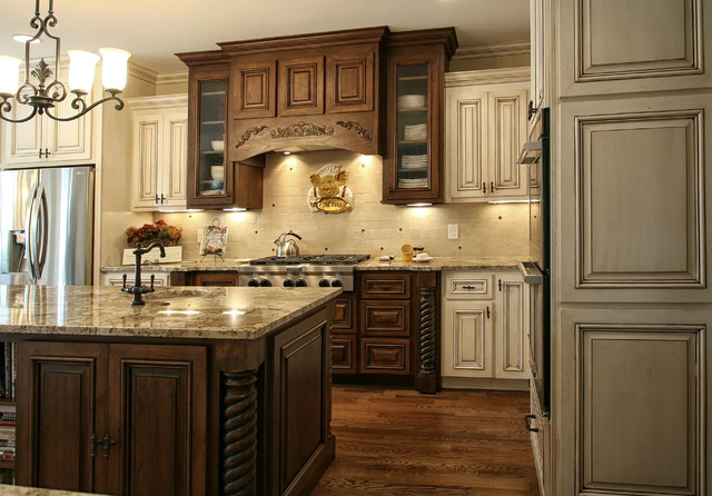 French country modern kitchen charlotte by walker for Kitchen ideas modern country