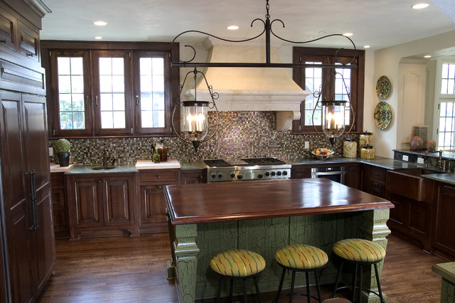 French Gothic Revival Kitchen Remodel Traditional