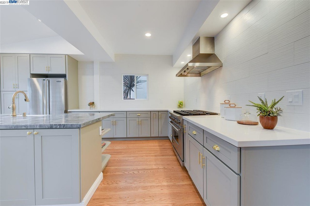French Grey Cabinets - Contemporary - Kitchen - San ...