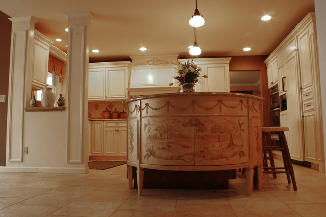 French-Inspired Kitchen traditional-kitchen