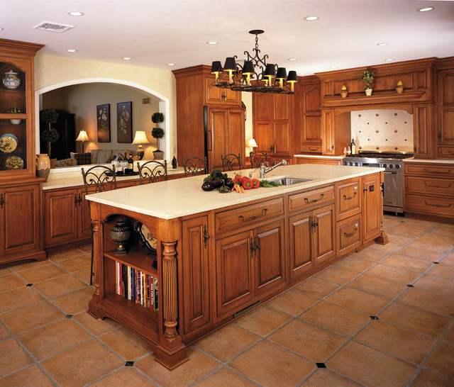 touch of france traditional-kitchen