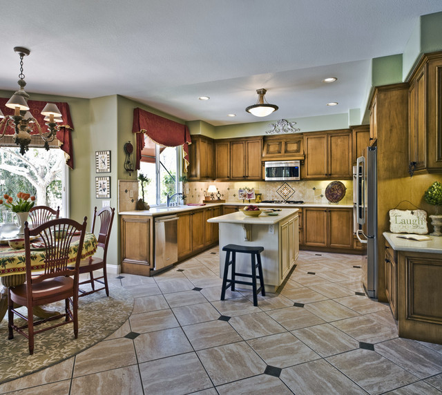 French country california home traditional kitchen for Cal s country kitchen