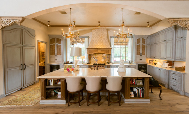 French provincial kitchen mediterranean kitchen for Kitchen island houston