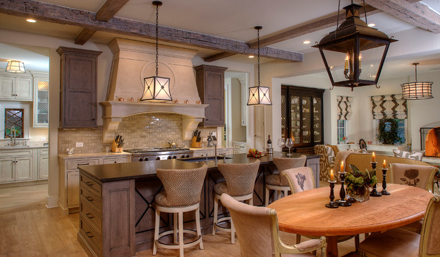 French Reclaimed Treasure transitional-kitchen