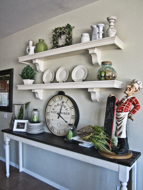 French Style Kitchen Wall Shelves Traditional Kitchen