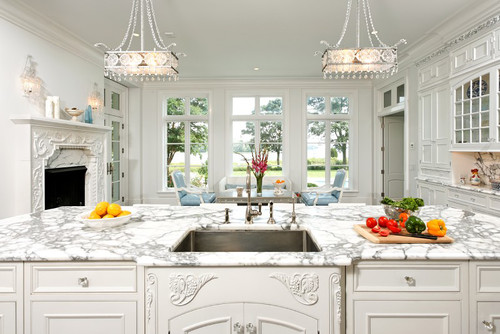 White Elegant Kitchen Cabinets Bradford Design Llc French Vanilla