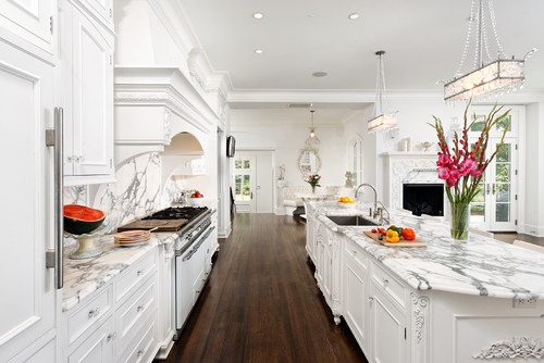 White Elegant Kitchen Cabinets. Bradford Design LLC