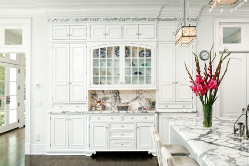 White Marble Kitchen | Belclaire House