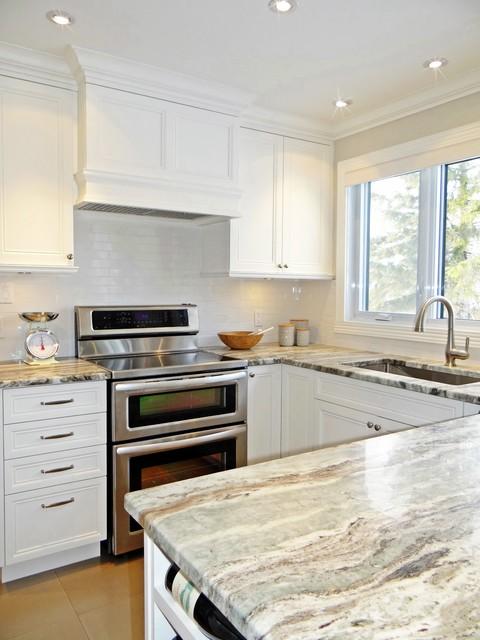 fresh and bright west island kitchen