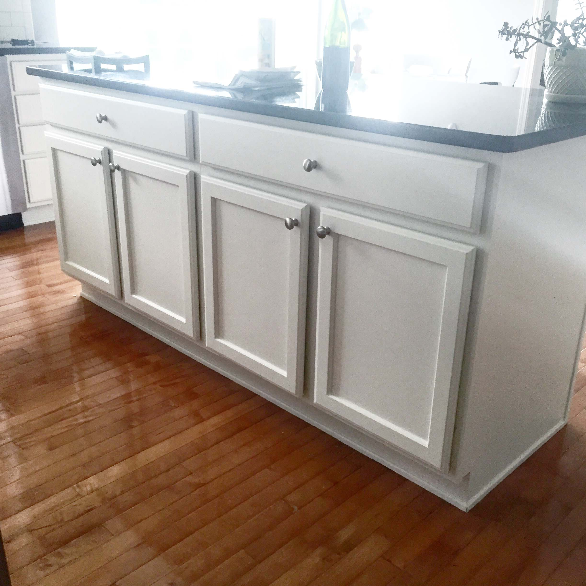 Fresh and clean white cabinets