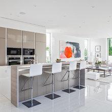 Fresh idea of an an open modern kitchen design somewhere in Beverly Hills  CA