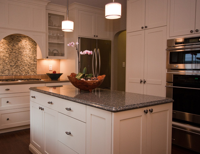 Fresh Transitional White Kitchen traditional kitchen