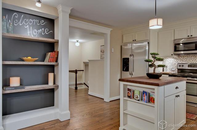 Fresh white kitchen update contemporary kitchen for Modern kitchen updates