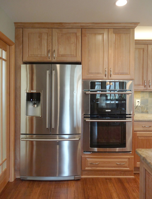 Fridge And Double Oven Surround Traditional Kitchen