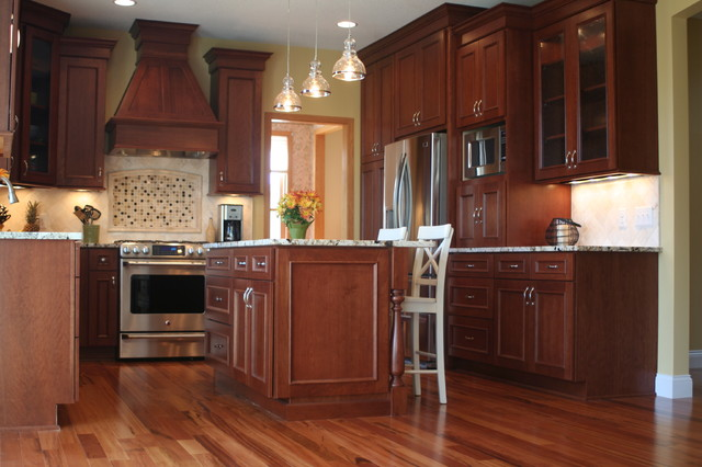 From a tired feel to a Tuscan appeal mediterranean-kitchen
